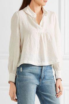 Linen cropped shirt || Isabel Marant
