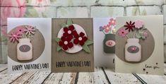 Happy Valentine's Day.  Cards using the Sizzix Garden Florals Thinlits die set. #sizzixlifestyle #sizzix  www.sharon-curtis.com