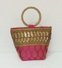 Pink colour  Designer Clutches : Tejal Collection -  YF-40822