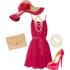 """""""Kentucky Derby Pink"""" let's have a derby party Cave ! Kentucky Derby Outfit, Derby Attire, Kentucky Derby Fashion, Derby Outfits, Pink Outfits, Cute Outfits, Races Outfit, My Outfit, Race Day Fashion"""