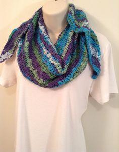 Multi-Colored Crocheted Scarf