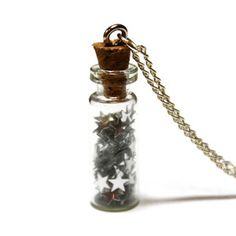 Bottled Silver Stars Necklace, $29, now featured on Fab.