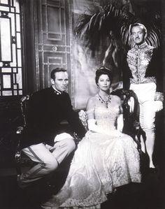 Ava Gardner, Charlton Heston, and David Niven in 55 Days at Peking (1963)