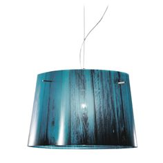 Designed by Luca Mazza - Manufactured in Italy. This innovative lamp translates an idealised woodland scene into an elegant, minimalist design that provides a soft pool of light just where you need it. Its boom structure adapts well to furniture compositions in the sitting room. The shade is decorated with a print of k