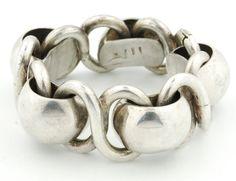 Phenomenal Early Mexican Silver Bracelet