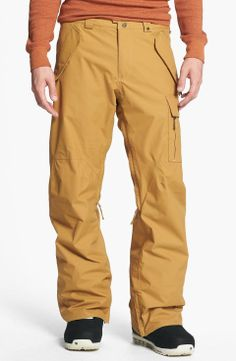 Burton 'Poacher' Snowboard Pants | $135 | gifts for the sporty guy | mens snowboard pants | sports | athletic | menswear | mens fashion | mens stye | wantering http://www.wantering.com/mens-clothing-item/burton-poacher-snowboard-pants/afBqR/