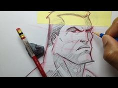 How To Draw A Superhero Head - Tutorial - YouTube