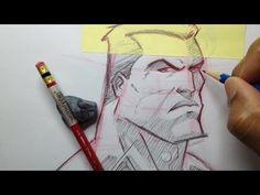 How To Draw A Superhero Head - Tutorial - YouTube