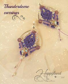 Etsy の Thunderdome macramè earrings pattern by Happyland87