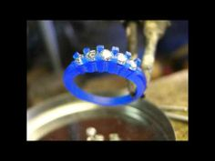 Wax Carving For A Five Stone Diamond Ring - YouTube