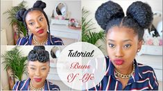 Tutorial| Three 10 Minute Natural Hair Styles Buns of Life [Video]  Read the article here - http://www.blackhairinformation.com/video-gallery/tutorial-three-10-minute-natural-hair-styles-buns-life-video/