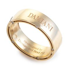 Damiani Brad Pitt Mens Wedding Band