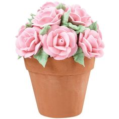 Bouquet of Roses Flower Pot Cake | Wilton