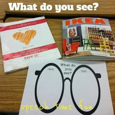 Speech Time Fun: What Do You See? Magazine Find (FREEBIE!)