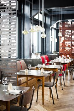 The Pot Luck Club Pot restaurant built in a historic silo in Capetown, South Afica Bar Interior, Restaurant Interior Design, Commercial Interior Design, Commercial Interiors, Church Interior, Restaurant Interiors, Restaurant Concept, Cafe Restaurant, Restaurant Ideas