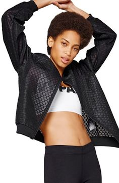 IVY PARK® Hexagon Mesh Bomber Jacket