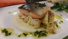 Seared salmon with chimi churri sauce