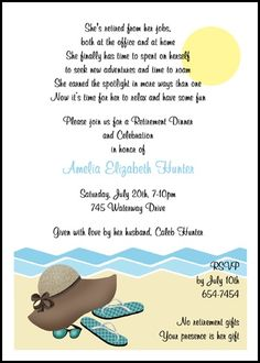 17 best birthday invitations for adults images on pinterest retirement party sun sand and fun invitations number 7815cs ri only at filmwisefo