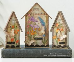 Tiny Houses by Tim Holtz ~ made by Emma Williams for Creativation 2017 using Sizzix dies