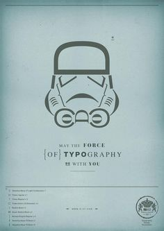"""May the force of typography be with you"" - Matteo Civaschi #StarWars"
