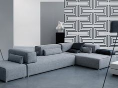 Divano componibile in tessuto PONTON Collezione Roots by LEOLUX | design Braun Maniatis Kirn Design