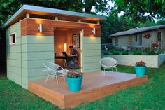 Back Yard Office/Studio with Deck