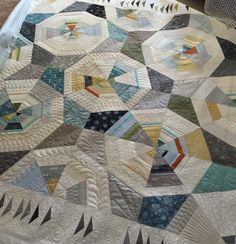 Octagon Shimmer Quilt.  Pattern by Jennifer Sampou.  Pieced by Melissa Curley.  Quilted by Vicki Ruebel of Orchid Owl Quilts.