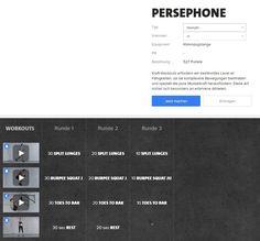 Freeletics Persephone Workout - Persephone besteht aus 3 Runden mit je 3 Übungen und ist in drei Varianten absolvierbar..