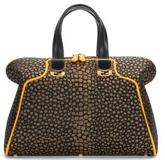 Fendi Chameleon Large Fabric and Leather Duffel Bag