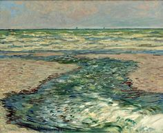 The Seacoast of Pourville, Low Tide   -     Claude Monet,   1882  French, 1840-1926  Oil on canvas, 66 x 81,3 cm.
