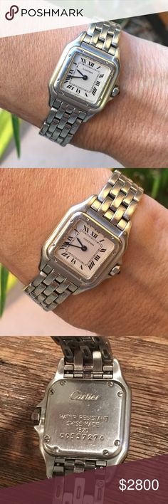 Vintage Cartier Panthere White Gold Watch Beautiful vintage Cartier white gold panthere watch. Sized to fit slim wrist. My wrist measures 6'' around Accessories Watches