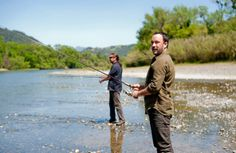 Dave Matthews goes fishing.
