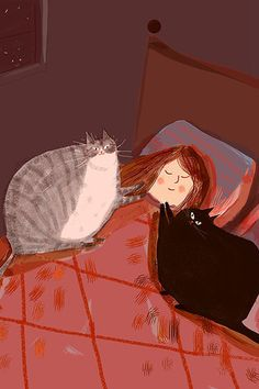 Who says cats don't bond with their humans? That 2 am special 'bonding hour' aka feed time hour, you are loved. This is the perfect cat art print for cat lovers and cat parents. Funny Christmas Cards, Christmas Cats, Christmas Humor, Cat Art Print, Girly Drawings, Cat Cards, All Art, Fine Art Paper, Cat Lovers