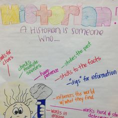 Anchor chart for Historians!