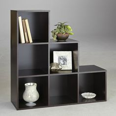 6-Cube Step Wood Shelving Units And Storage For Bedrooms Bookcase Furniture New #EssentialHome #Contemporary