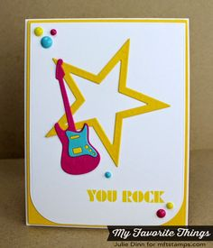 Document It - Rock On, Accent It - Rock and Roll Die-namics - Julie Dinn #mftstamps