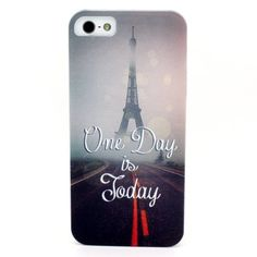 ModeUp One Day is Today Eiffel Tower Paris Snap On iPhone 5 5s 5th 5g Hard Case for boys girls teens man women + Gifts + High Qulity Guarantee by ModeUp, http://www.amazon.com/dp/B00EDZYMHK/ref=cm_sw_r_pi_dp_HaAcsb1RXKHMD