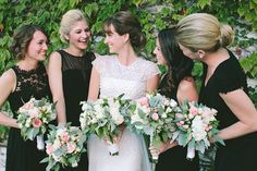 Pin for Later: 6 Unconventional Ways to Dress Your Bridesmaids Different Dresses, Same Color