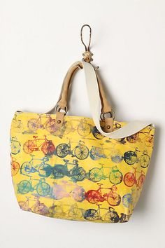 Painted Cycles Tote #anthropologie