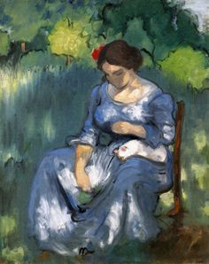 The Athenaeum - Woman with a Cat (Louis Anquetin - )