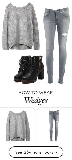 """""""Untitled #573"""" by this-is-the-world-i-live-in on Polyvore featuring Dondup"""