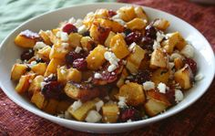 Roasted Delicata and Cranberries – Low Carb Recipe