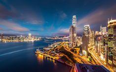 Hong Kong - HD  セントラル(中環)名称通りの金融中心地、多くのバス(驚くほど安いです)もここから出発します。スタンレーまで出かけるのに便利です。運良く2F建てバスでしたら、2Fが快適です。  遊覧船もここから出ていますから一度は楽しまれてはいかがですか?