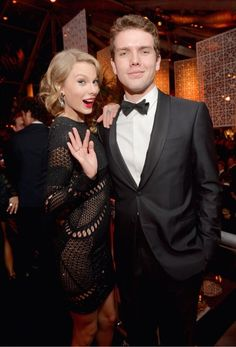 Taylor and Austin at the InStyle after party for the Golden Globes