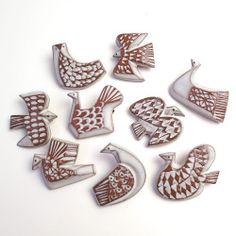 ブローチ「bird tile」(9種)