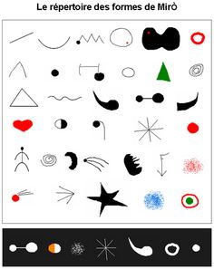miro : répertoire des signes Plus Arte Elemental, Joan Miro Paintings, Art Worksheets, Ecole Art, School Art Projects, Arts Ed, Elementary Art, Elementary Teaching, Art Plastique