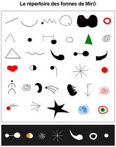 miro : répertoire des signes
