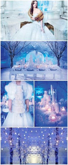Magical Ice Wonderland Winter Wedding Ideas