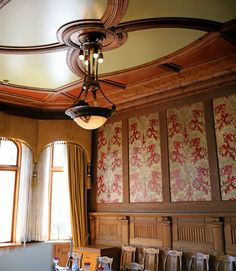 jugendstil interiors   We were just in the library for some free email on their machines. It ...
