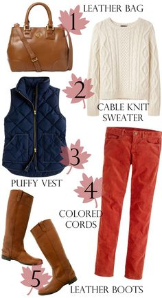 This ensemble was billed for fall, but as cold as our spring has been, I'm calling it a cold spring day outfit. Sub any bright-colored trousers (yellow?) or bright sweater with neutral bottom and at least you bring a little sunshine to these cold and cloudy days.